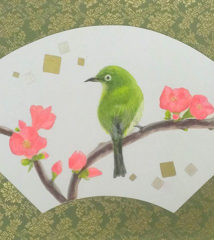 日本画生徒さんの作品